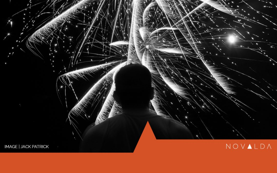 Fireworks represent disorganization and obstacles in the process of change.